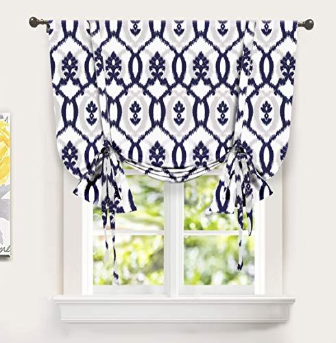 Driftaway Evelyn Tie Up Curtain Ikat Floral Pattern Room Https Www Amazon Com Dp B07lh1gm1d Ref Cm S Small Window Curtains Balloon Curtains Tie Up Shades