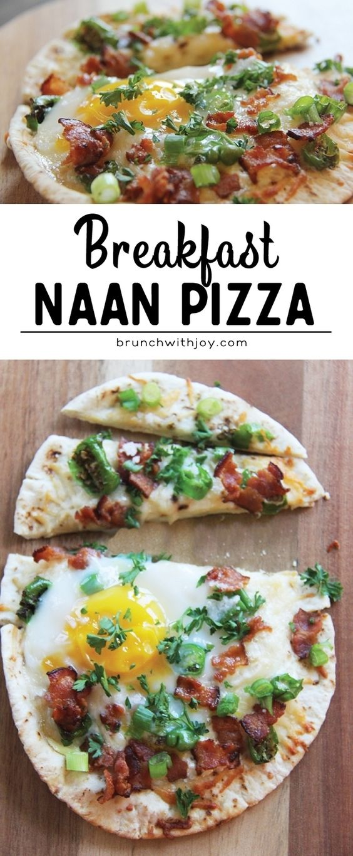 Breakfast Naan Pizza is here and it's my happy breakfast!