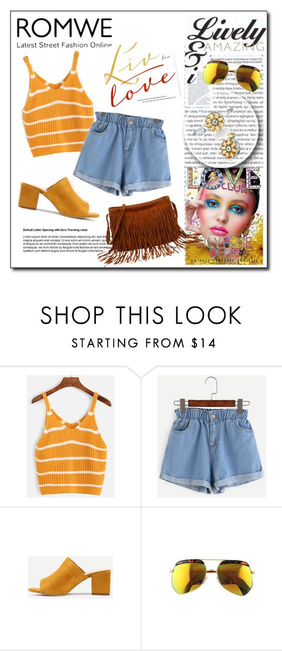 """Blue Shorts with Romwe (Contest with prize)"" by teez-biz-nez ❤ liked on Polyvore featuring Oris"
