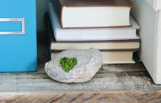 Moss Heart: easy DIY project!