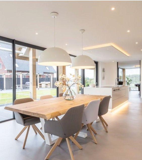 Modern Design For Dining Table In 2020 Esstisch Modern Deko Esszimmer Wohnzimmer Tischlampen
