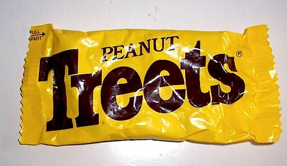 Peanut Treets. Caramelized Peanutty loveliness in a yellow bag.  #treets #chocolate #1970s