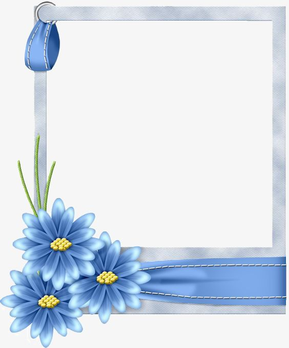 Blue Flowers Border Png And Clipart Printable Frames Flower Border Boarders And Frames