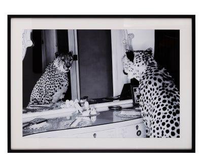 Stampa con cornice Leopardo