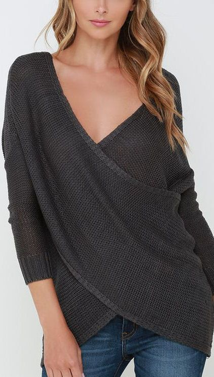 I love the laid back feel of this wrap sweater