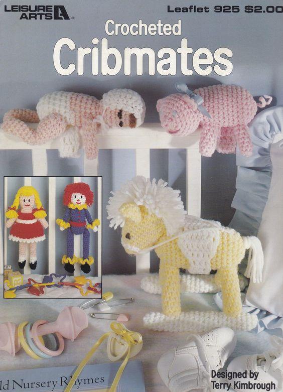 Cribmates, Leisure Arts Crochet Pattern Booklet 925 Dolls Rocking Horse & More! - Dolls & Toys