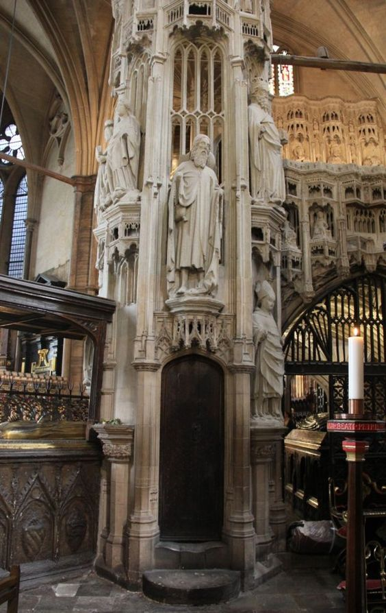 Entry to the 'secret' Henry V's chapel in Westminster Abbey is gained via uneven spiral steps, worn down from centuries of use. The chapel is not usually open to the public because of its access issues.