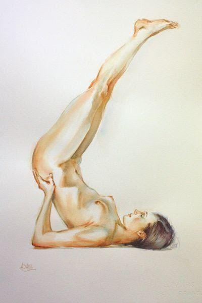 artbeautypaintings:  Feet in the cloud - Pauline Adair