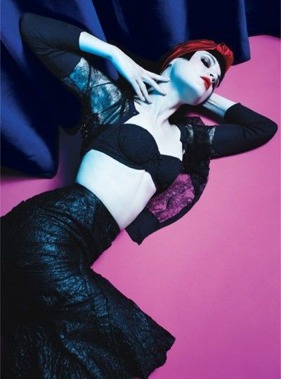 The Night Is Young - Photo by Mario Sorrenti, styled by Edward Enninful; W Magazine March 2012