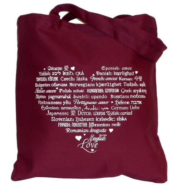 Love Languages tote $11.50