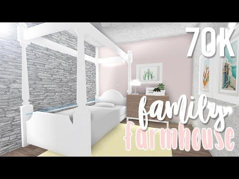 Family Farmhouse 70k Bloxburg Build Alixia Youtube Cute Bedroom Decor Simple Bedroom Design Kids Bedroom Designs