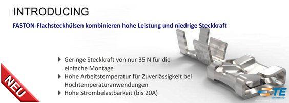 SHC GmbH - Neue FASTON-Flachsteckhülsen kombinieren hohe Leistung und niedrige Steckkraft