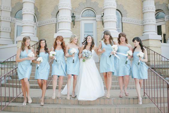 Southern wedding - blue bridesmaid dresses Shop blue bridesmaid dresses here:http://www.outerdress.com/color-blues/bridesmaid-dresses-cg-12.html?pgp=p88