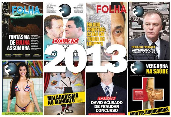 Capa da retrospectiva dos principais acontecimentos registrados pela FOLHA