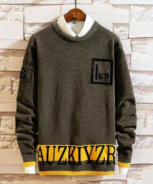 Black letter print pull over hoodies zip design on chest in