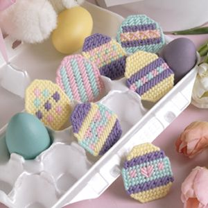Enchanting Eggs Plastic Canvas Patterns