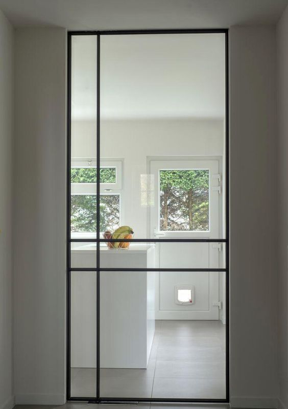 Glastur 60 Ideen Und Designs Zur Inspiration Glastur Wohnzimmer Haus Design Innenfenster