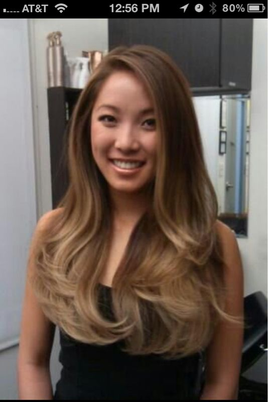 ...lighten my base color and add some high lights and low light to make my hair closer to this color.
