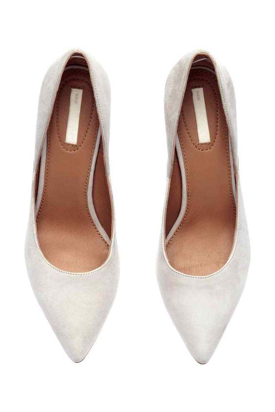 Sapatos de salto em camurça   H&M