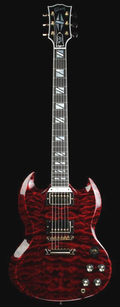 GIBSON Custom Shop Limited Edition SG Custom Quilt Electric Guitar Fire Tiger…