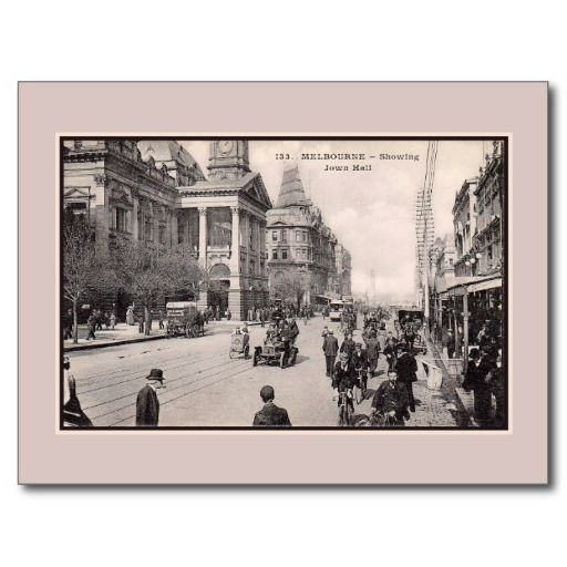 Vintage s melbourne australia town hall postcards and