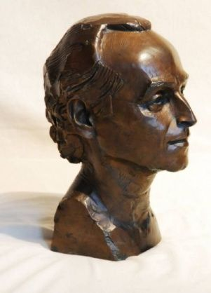 A Bronze Head Of Jose Carreras on AntiqueForSale from Marlborough Antiques