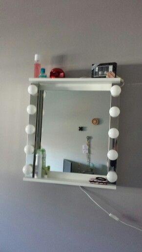Tiener make up spiegel met verlichting. #ikea