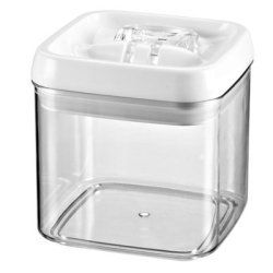 """Felli® Flip Tite 4"""" Square x 4"""" High Canister by Free Free USA. $11.70. 4"""" Square Flip Tite Canisters feature an easy open and close ring that allows you to open and close securely with 2 fingers. Flip ring up to open and flip ring down to seal. They are made of a durable, shatterproof acrylic and a 100% silicone seal that makes them airtight. Clarity of canisters allows you to easily view what is inside. These stackable canisters are a great way to get your cabinets an..."""