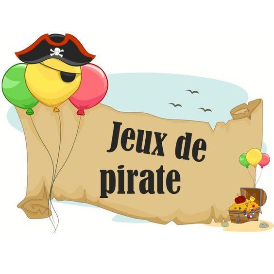 Petits jeux de fête sur le thème des pirates !
