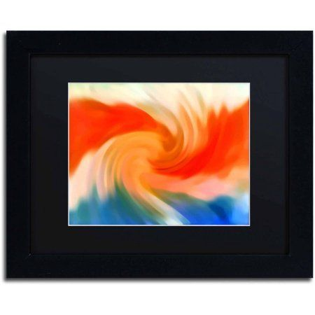 Trademark Fine Art Storm At Sea 2 inch Canvas Art by Amy Vangsgard Black Matte, Black Frame, Multicolor