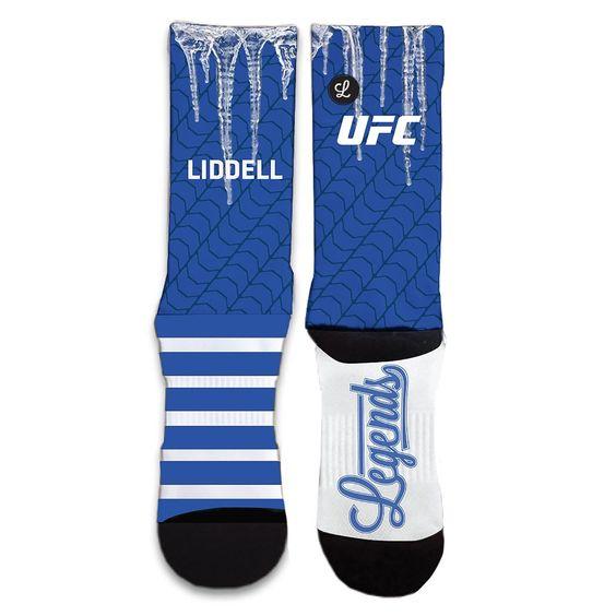 UFC Legend Chuck Liddell Iceman Sublimated Socks