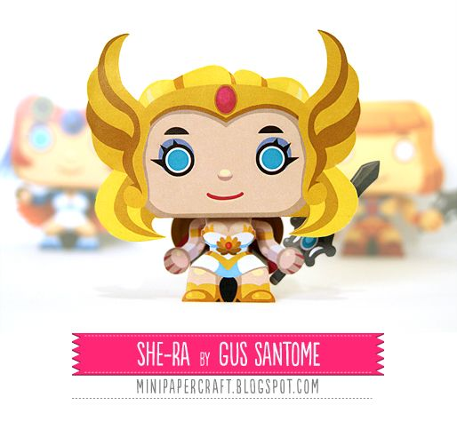 Ok, last one. (For now.) :D Mini Papercraft: She-Ra!