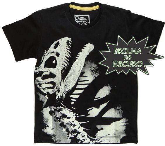 Camiseta Dinossauro Esqueleto