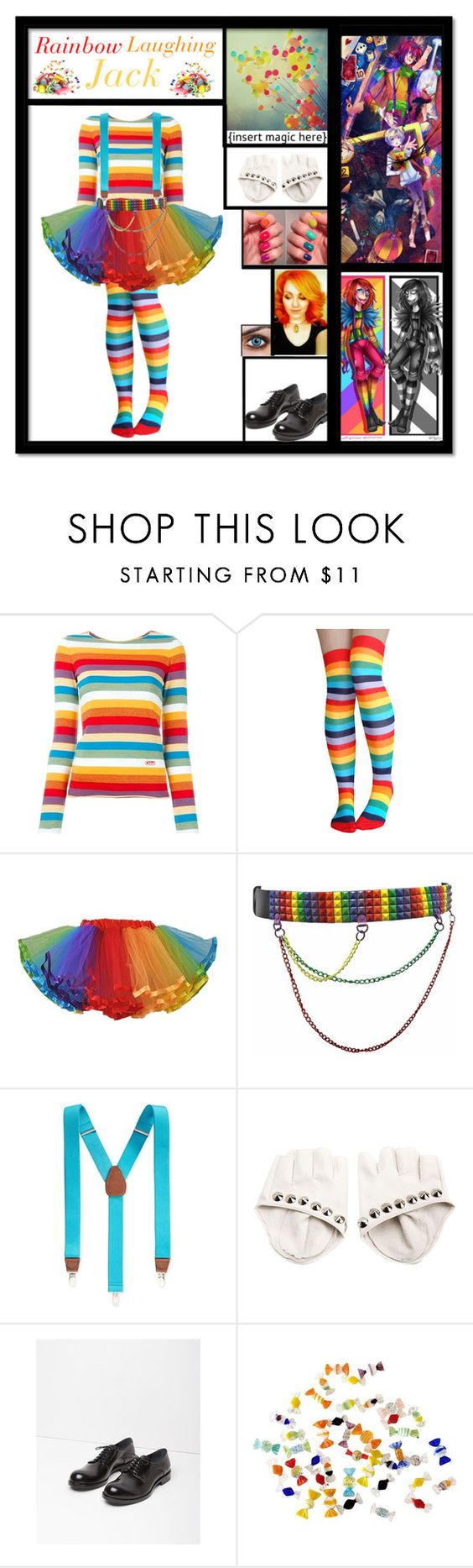 """""""Rainbow Laughing Jack Inspired"""" by dragonladydoctor ❤ liked on Polyvore featuring Chloé, Club Room, Jil Sander and Murano"""