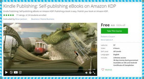 100 Free Udemy Coupon Kindle Publishing Self-publishing eBooks - microsoft word coupon