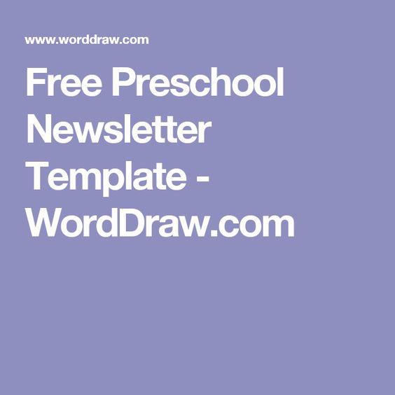 Free Preschool Newsletter Template - WordDraw.com