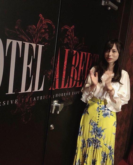黄色のスカートが可愛い山本萩子アナ