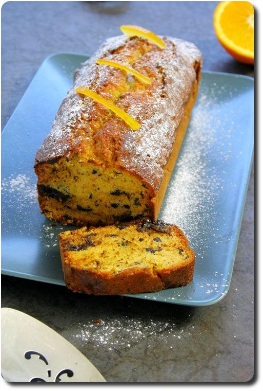 Cake à l'orange, chocolat noir et écorces d'orange confites via http://cuisiner.avecnico.com