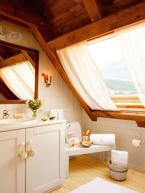 cortinas para janela de sotão