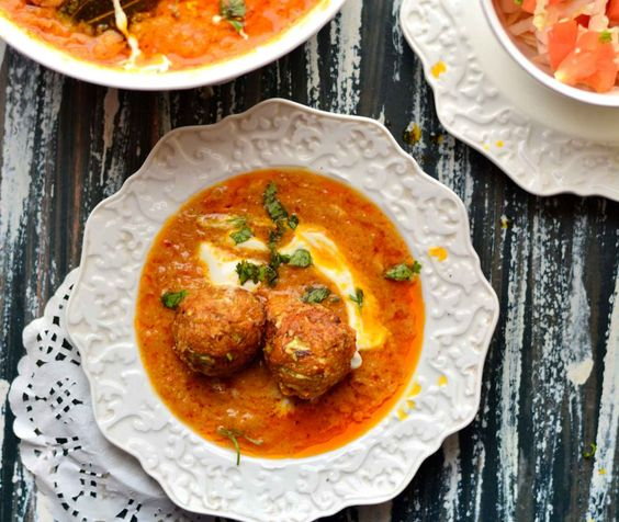 Love Malai Kofta? To make it more interesting and nutritious heres cabbage kofta with no onion and no garlic made with grated cabbage dumplings fried and cooked in tomato gravy made creamy in texture. It is perfect for a weekend meal with phulkas or naan and raita for wholesome lunch with masala papad and salad.   http://ift.tt/2cxPX1O #Vegetarian #Recipes