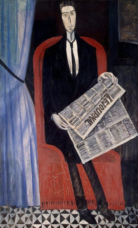 Andre Derain / Portrait of a Man with a Newspaper (1911-1914)