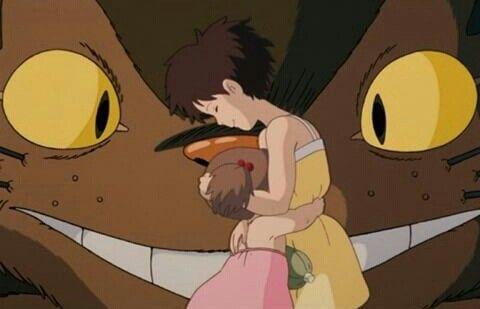 Catbus, Mei and Satsuki: