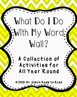 Word Wall Activities, i like the grid for finding words that fit the different clues
