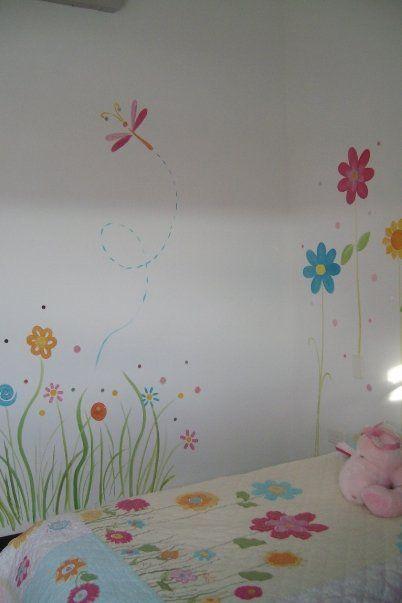 Decoracion dise o y pintura en muros recamara de ni as for Decoracion de pintura