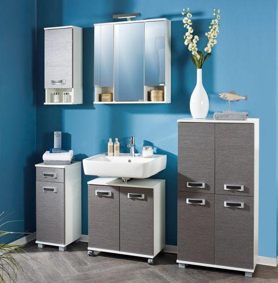 Badezimmer badezimmer weiß blau : Schildmeyer Cadizon, Esche grau/Weiß - Schildmeyer Cadizon ...