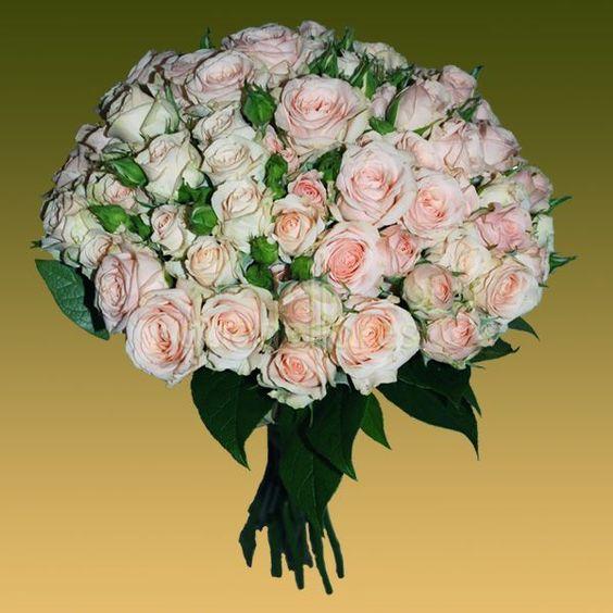 Bouquet Casablanca de rosas champán