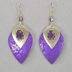 Holly Yashi Arabella Earrings - Purple / Amethyst