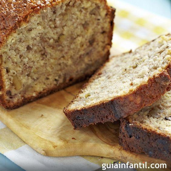 Pan integral de plátano con nueces: para niños y embarazadas