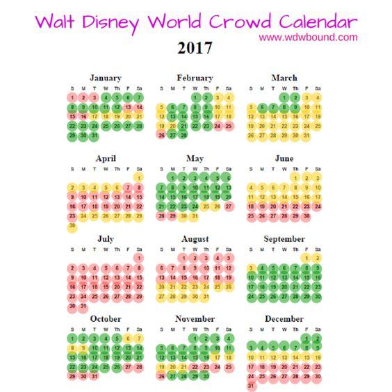 Disney world crowd calendar, Crowd calendar and Walt disney world on ...