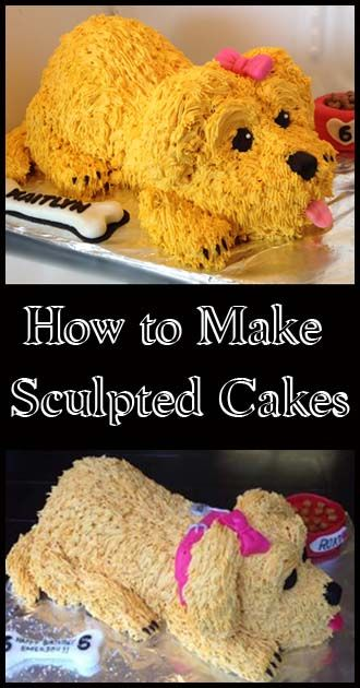 How to make Sculpted Cakes and great decorating helps here.